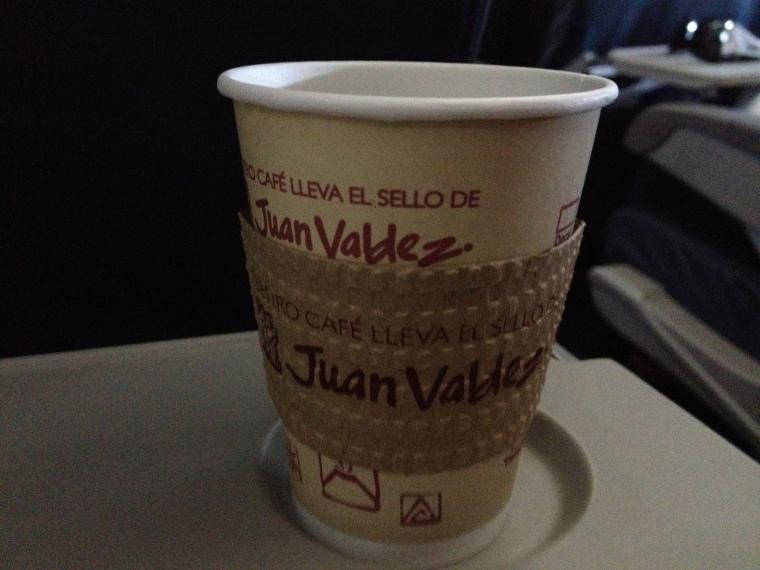 Voo SP-Bogotá - melhor café do mundo